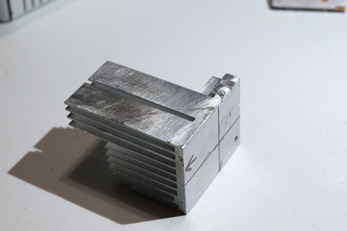 bottom of modified heatsink