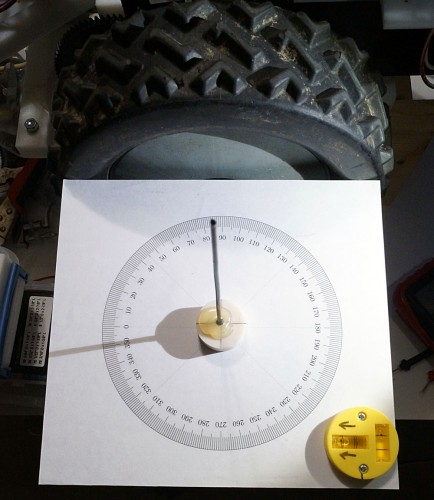 sun compass for aligning magnetic compass with robot base
