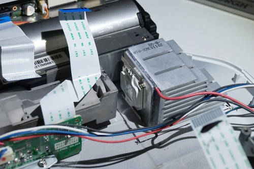 uv led and heatsink test position