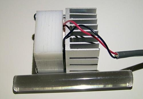 uv led lamp assembly detail