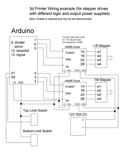 wiring diagram stepper drive with different logic and output power supplies